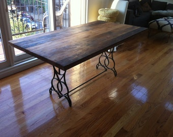 Reclaimed Wood Table Top, Kitchen Table- Free Shipping