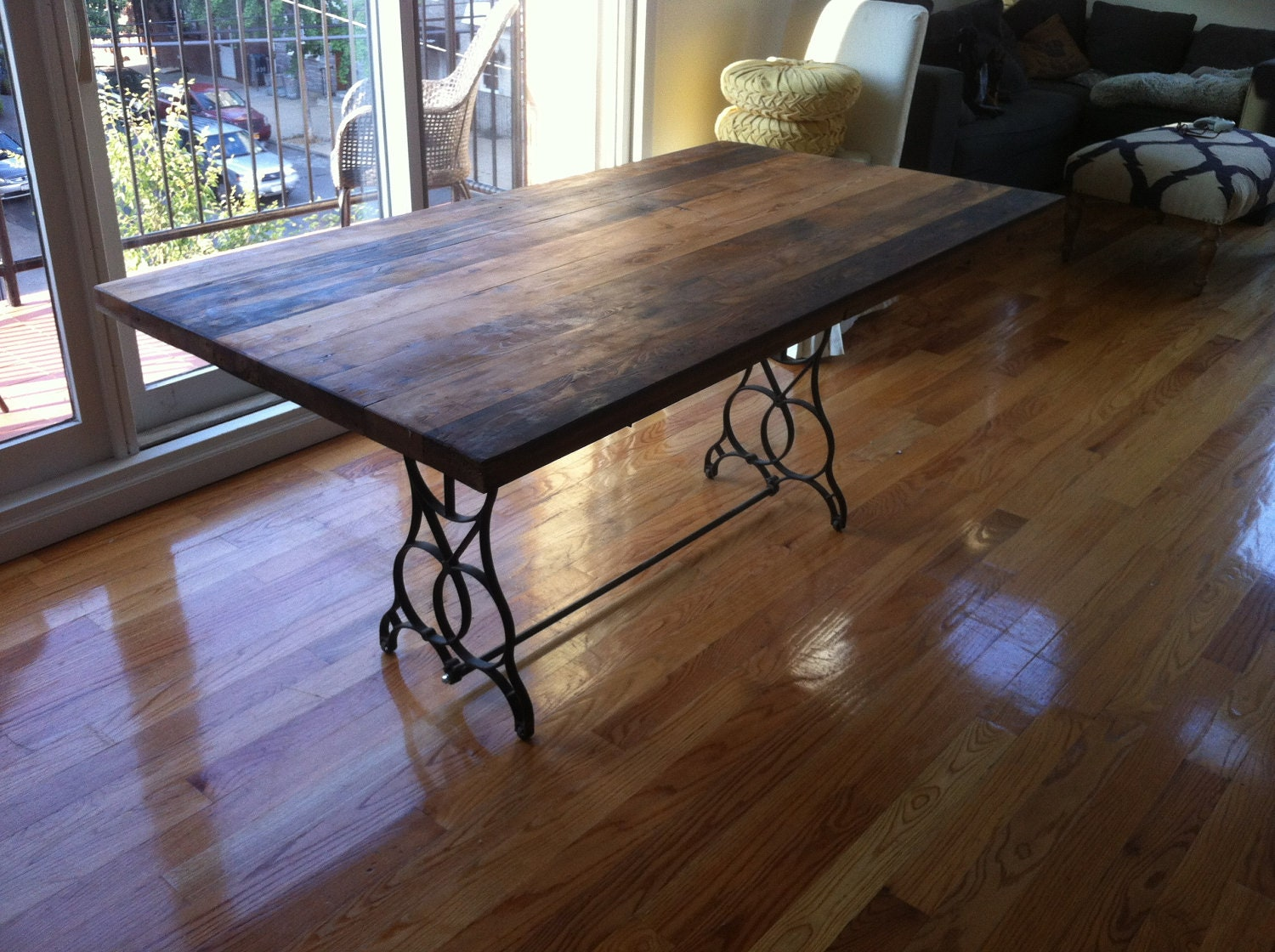reclaimed wood table top dining table high top kitchen table zoom
