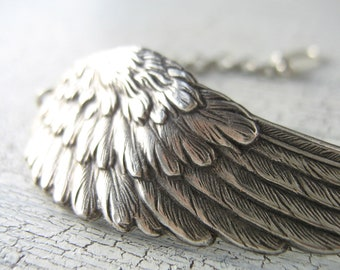 Ox Silver Angel Wing Bracelet