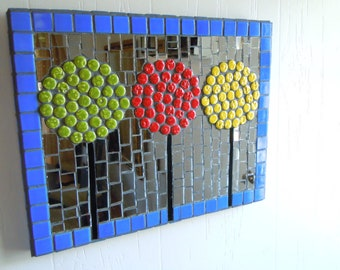 Mosaic Wall Hanging The Lolli Pop Tree (Price Reduction) was  80.00