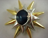 Sale Vintage Moon Star Sun Celestial Brooch  .....690