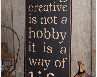 Being Creative, Typography Word Art , Primitive Sign