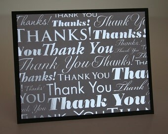 Thank You Card-  Foiled Thank You's