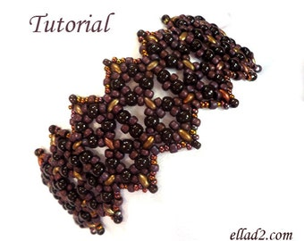 Tutorial Xpose Bracelet - Beading pattern, instant download, PDF
