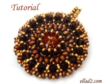 Tutorial Sole Mio Pendant - Beading patterns PDF