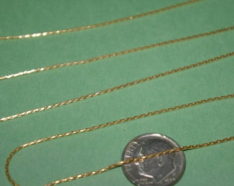 By the foot BULK Continuous 0.8mm thick 14kt GOLD FILLED Beading Stringing Chain - An economical alternative to solid gold! - Free Shipping