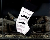 Black mustache Christmas Stocking