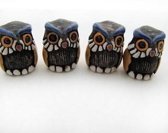 10 Large Cute Owl Beads - LG459