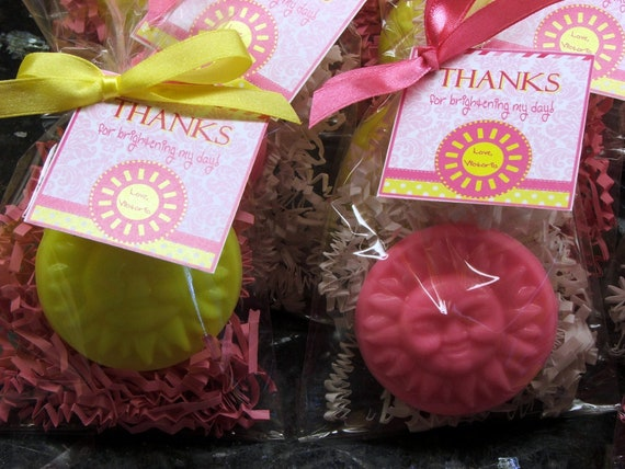 RUSH LISTING for Kate - 9/28 - Set of 20 Sun Soap Party Favors You are my Sunshine Baby Shower 1st Birthday Thank You Gift
