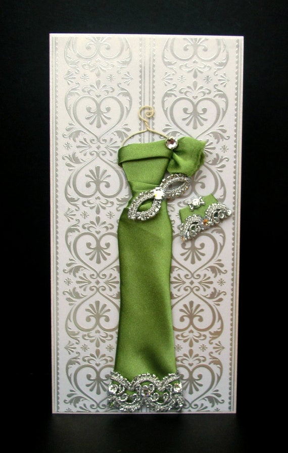 Jade Personalized Dress Card / Handmade Greeting Card