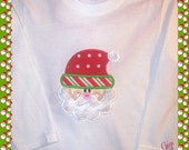 Santa appliqued tee shirt personalized