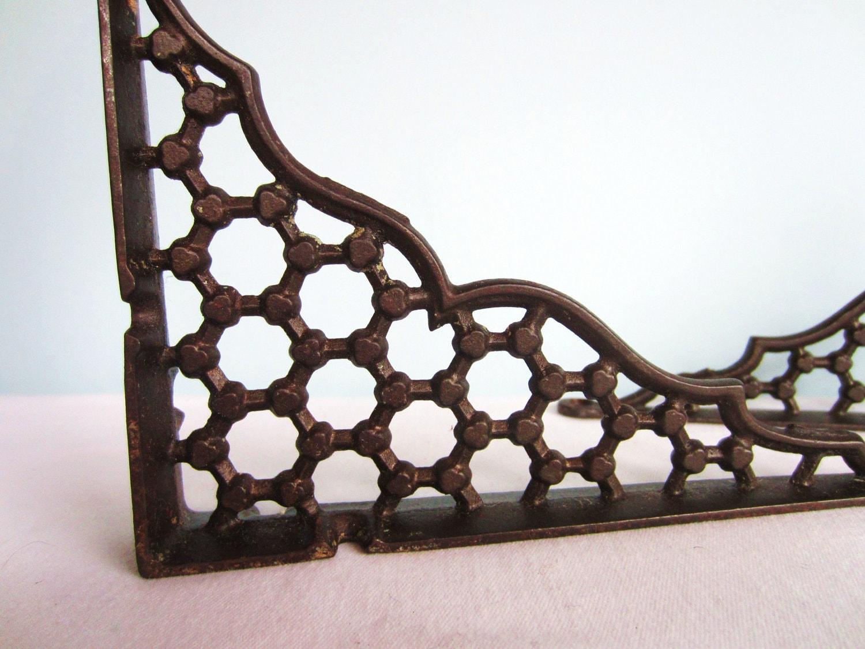 cast iron shelf brackets architectural by ameliarosevintage