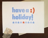 Have a :) (happy) Holiday card