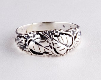 Bounty of Grapes Sterling Silver Ring