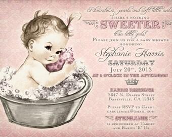 Girl Baby Shower Invitation - Baby Shower Invitation For Girl - Shower Invitations - DIY Printable