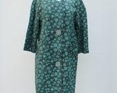 50s Vintage Floral Rain Jacket - LARGE / medium