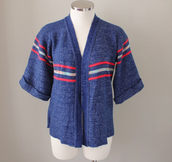 70s Vintage Space Dyed Robe Sweater - MEDIUM