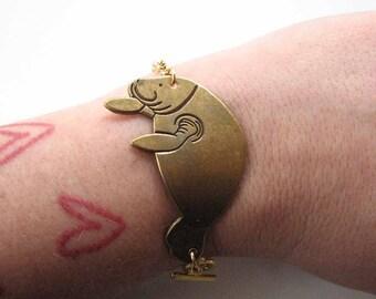 manatee bracelet - sea cow jewelry