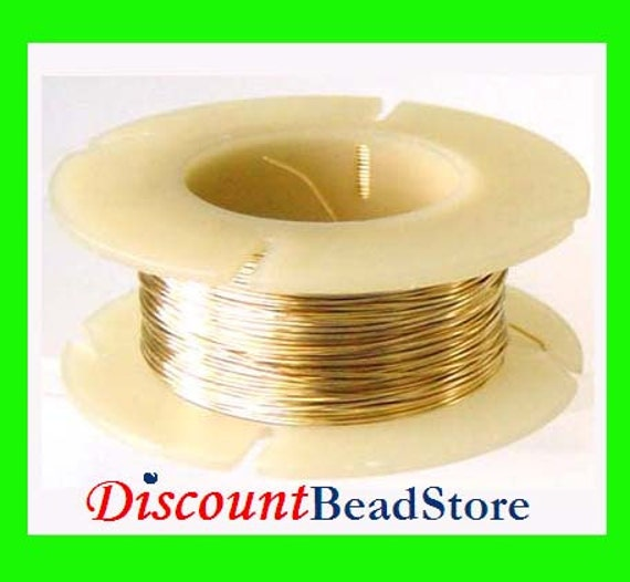 on sale 24 gauge 14k gold filled Wire round beading crocheting dead soft yellow gold in spool .5 oz approx.  26ft