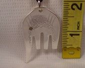 A Spoon Rings Plus Pretty Fork Elephant on a Black Cord or a Thin Chain Spoon and Fork Jewelry e6
