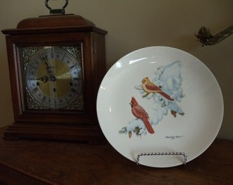 Vintage Collector Plate First Issue First Edition Cardinals in Snow 1974 //221