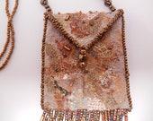 Amulet Bag / Necklace, Gold