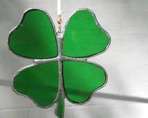 Lucky Four Leafed Clover Suncatcher