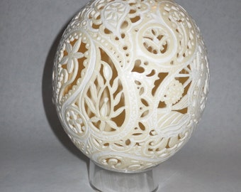 Custom Paisley Ostrich Egg