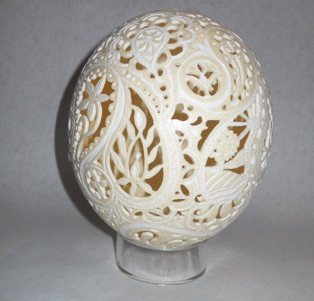 Custom Paisley Ostrich Egg by artophile on Etsy