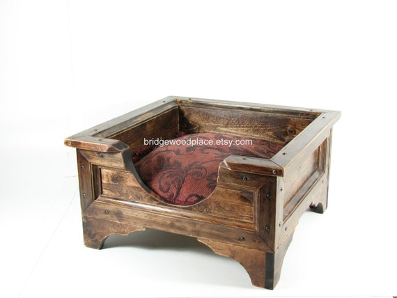 Pet Bed Furniture Cat Bed Small Dog Bed Wood Crate Wooden Box