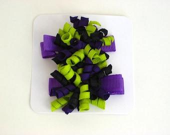 Lime, Purple and Black Itty Bitty Korker Set