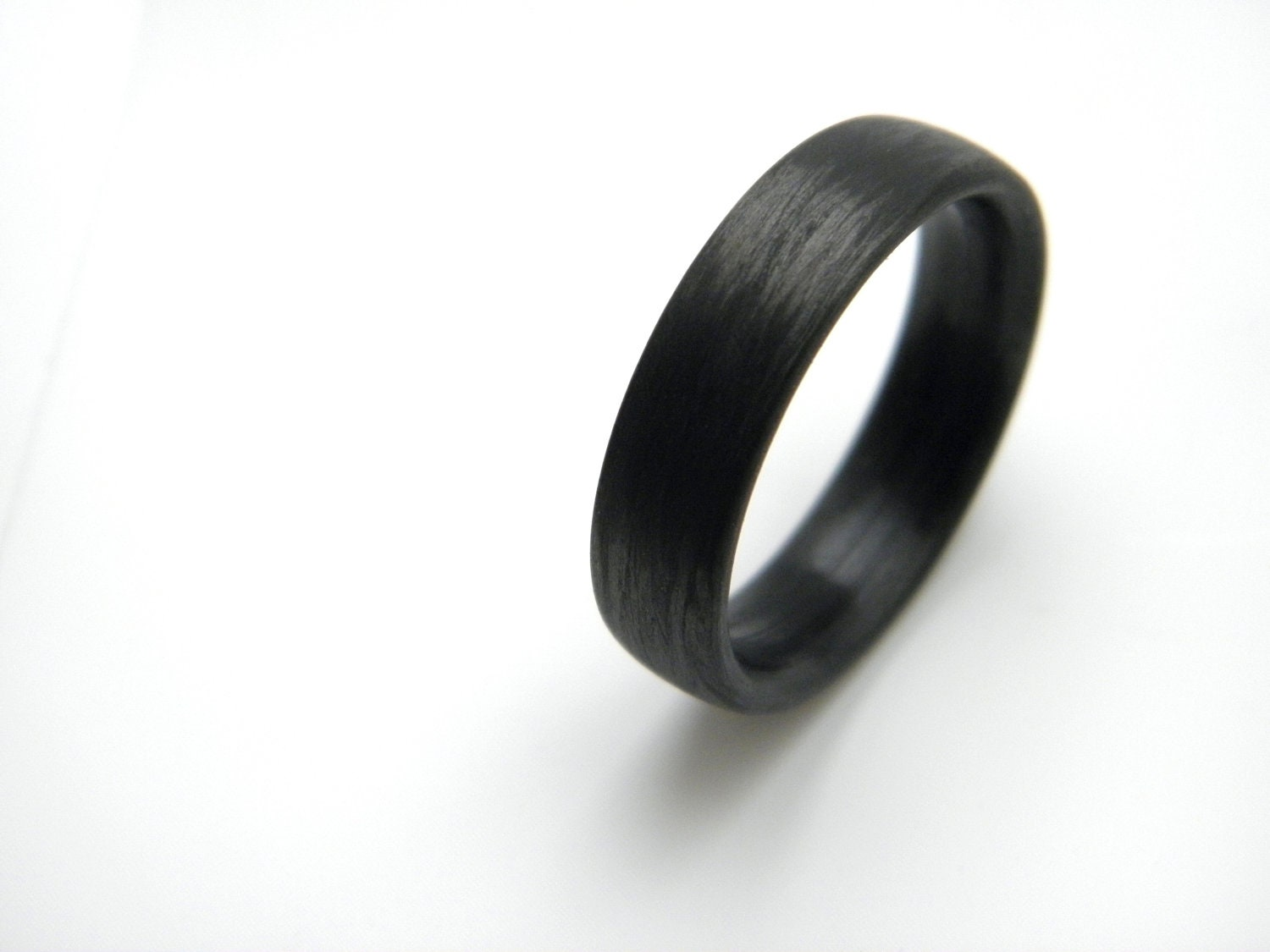 Custom Carbon Fiber Ring In Wood Like Grain 6mm You