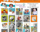 Be Mine 5x5 Press Printed Hinged Book WHCC specs- 20 pages and custom cover design