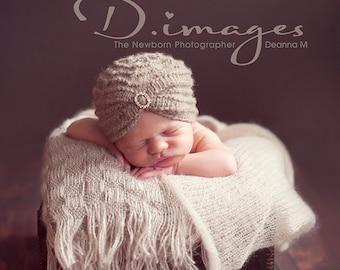 Baby Turban Hat, Turban Beanie, Rhinestone Beanie, Organic Baby Hat, Cream Baby Turban, Barley Baby Turban, Newborn Baby Girl Photo Props