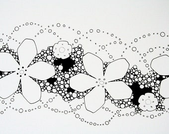 The little garland - an original pen and ink drawing