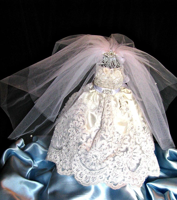 Bridal shower centerpiece bride in gown wedding dress