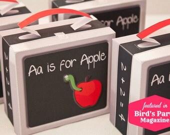 Lunch Box Favor Box : DIY Printable PDF - Instant Download