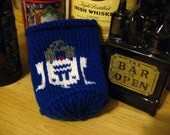 Knit R2D2 Star Wars Themed Beer Coozie (Blue)