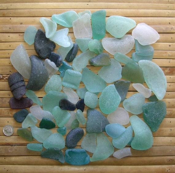 925g bulk order 2lbs genuine scottish sea glass mix for Craft mosaic tiles bulk