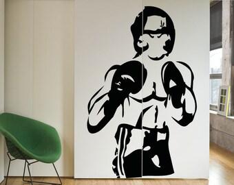 Vinyl Wall Decal Sticker Boxer OSAA683m