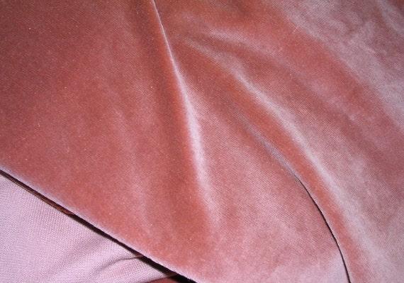 Antique Vintage Velvet Fabric Panel 45 X 54 Dusty