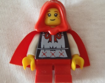 Custom Little Red Riding Hood Necklace Made With Genuine LEGO® Bricks