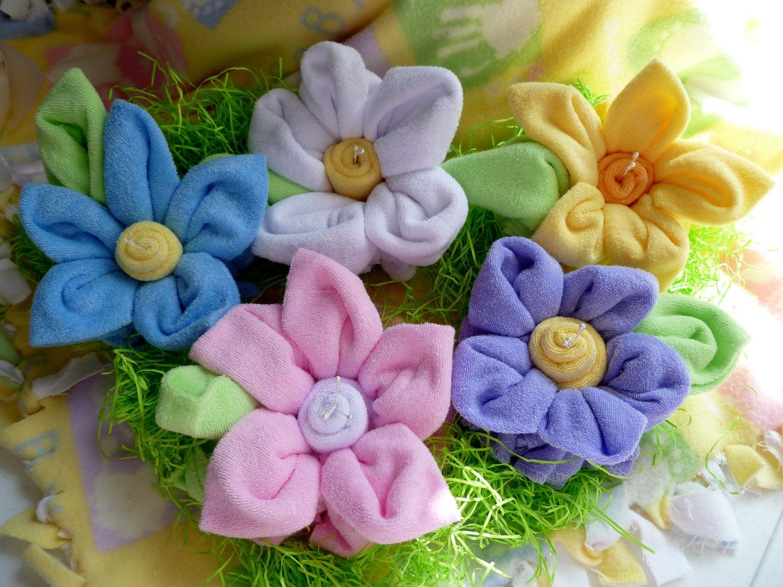 Items Similar To Baby Washcloth FlowersLargeBundle