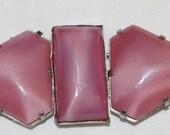 Art Deco - Pink - Glass - Buckle - c1920s -