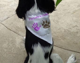 Partners In Crime Child & Dog Dog Bandana: Personalized