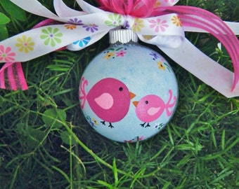 Big Sister Chick Ornament - Personalized Ornament - Hand painted Ornament, Little Sister, Big Sis, Little Sis, New Baby, Mother Daughter