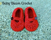 Little Ruby Slippers, Dorothy, Wizard Of Oz Inspired, Crocheted Baby Shoes