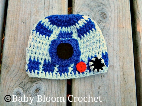 Little Robot Beanie, Inspired by R2D2