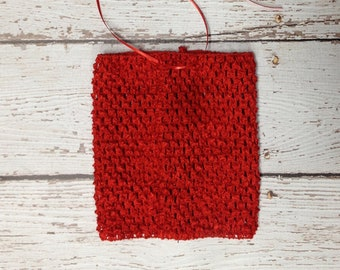 "6"" Crochet Tutu Tube Top - Red"