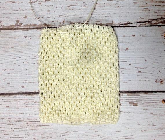 """Extra Large 10"""" Crochet Tutu Tube Top - Ivory"""